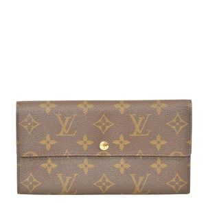 Louis Vuitton Monogram Porte Feuille Sarah Wallet
